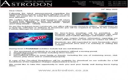Astrodon Level 3 Lockdown